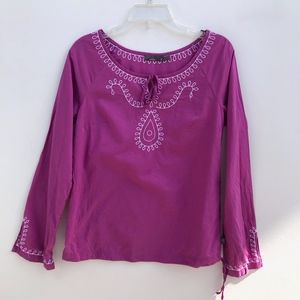 prAna Embroidered Scoop Neck Blouse #2056